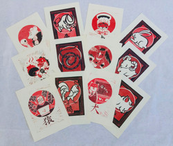 Chinese Zodiac Linocut