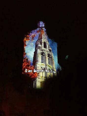 Mapping vidéo tour de Poitiers