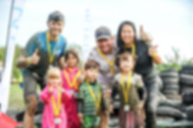 Family and friends give Mud Kids a thumbs up