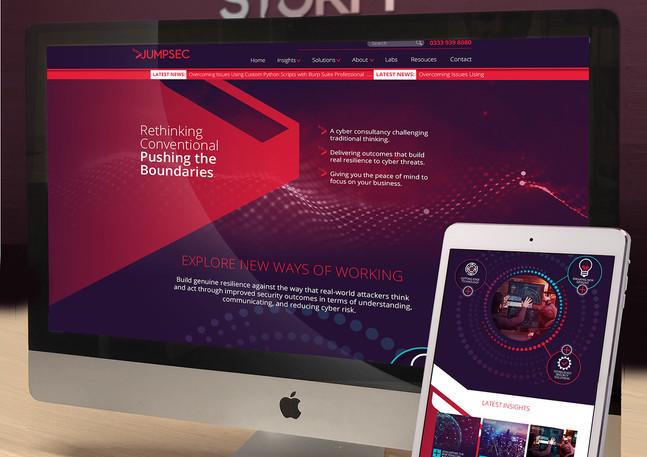 New Jumpsec website design