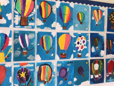 5th class hot air balloon art 🎈 🌈