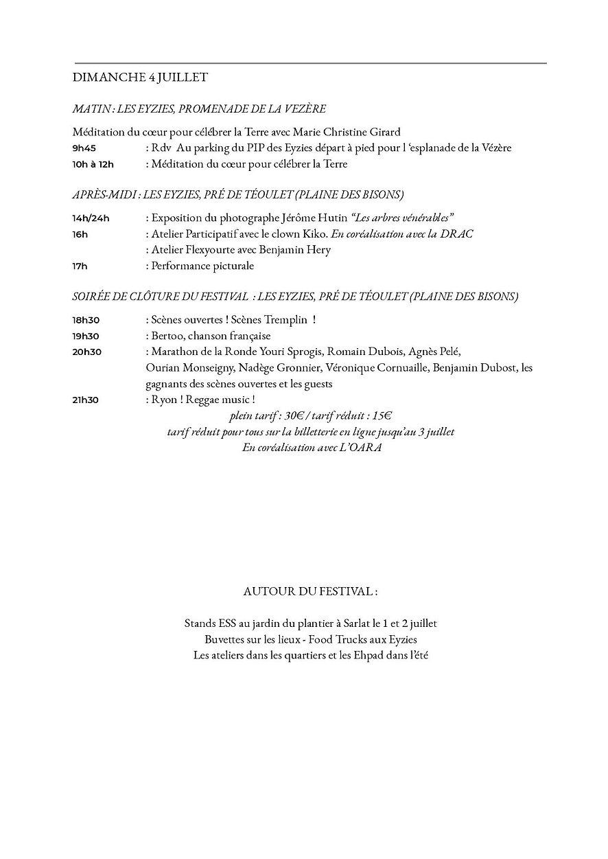 Programmation FESTIVAL DE LA RONDE 2021-