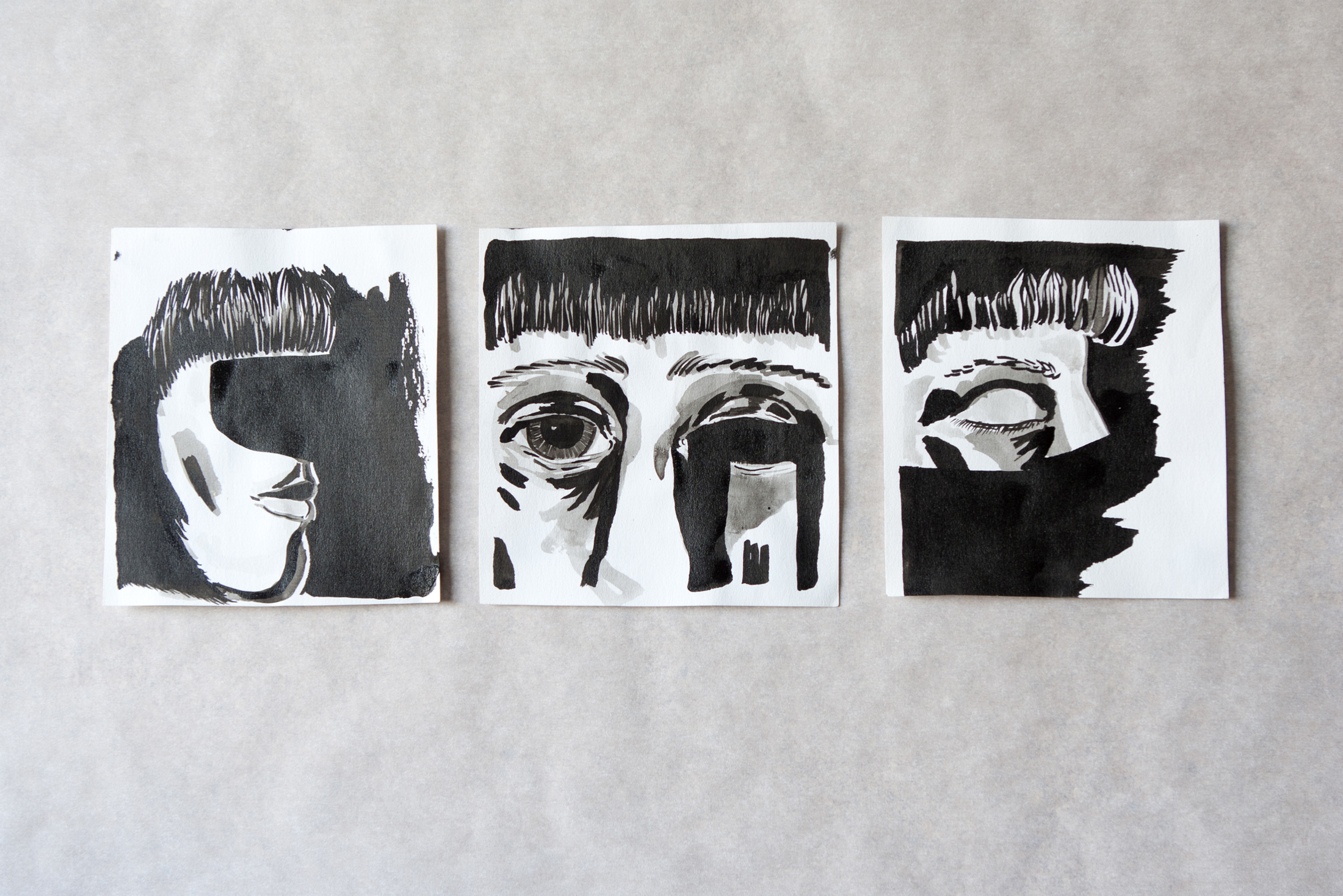 Self-Portrait I, II, III
