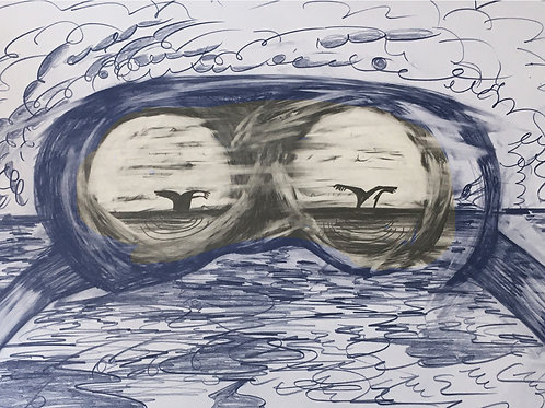 """Whale Watch In October"" Print 3"