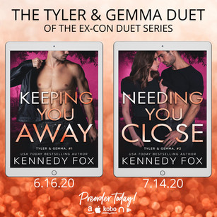 COVER REVEAL: The Ex-Con Duet Series  by Kennedy Fox