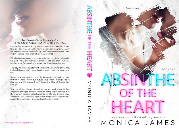 COVER REVEAL & EXCERPT: Absinthe Of The Heart by Monica