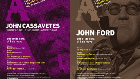 El Cine Albéniz programa a los directores John Casavettes y John Ford en su Filmoteca