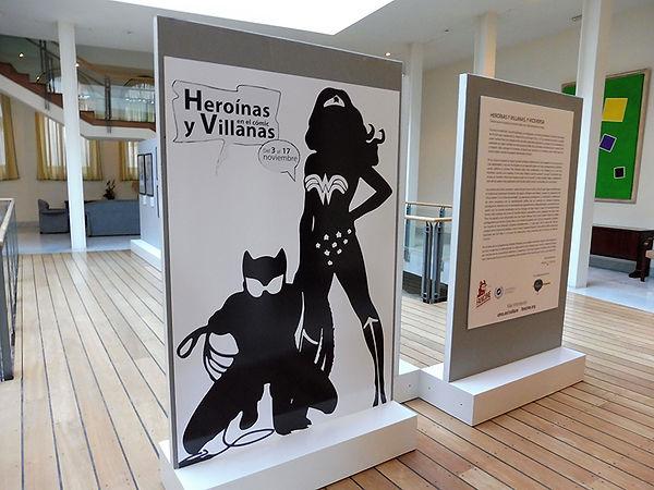 Exposición Heroínas y Villanas en el Cómic