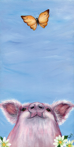 pig &butterflypaintingsmall