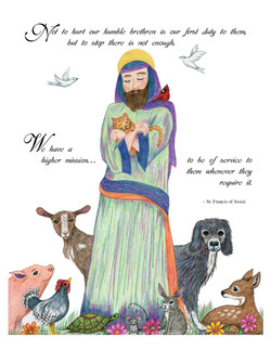 st francis and animals