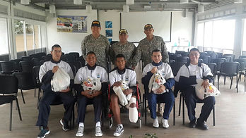 Apoyo moral y psicológico a Infantes de Marina en el Hospital Militar
