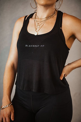 BlackOut Fit Sheer Racerback
