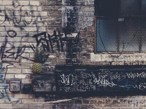 Graffiti in Aspen Alley