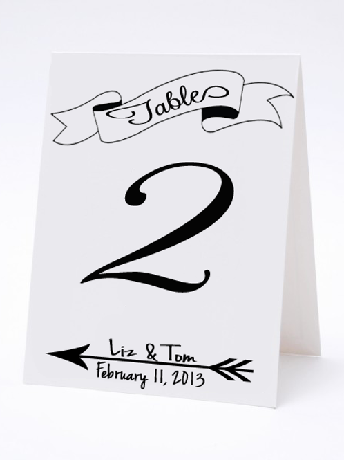 Wedding Table Number- The Steph