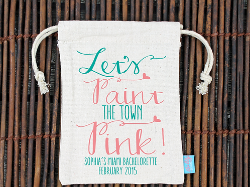 Paint the Town -Bachelorette Hangover Favor Bag