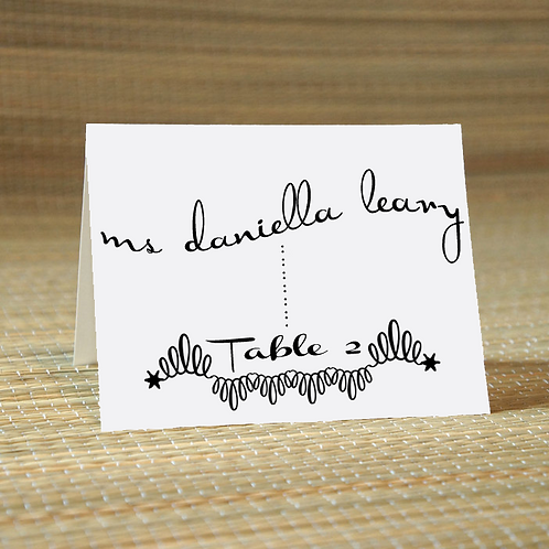 Personalized Wedding Place Card -The Danielle