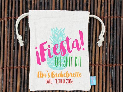 Fiesta Oh Shit Kit Mexico Bachelorette Favor Bag