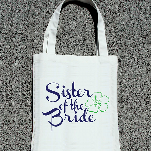 Floral Sister of the Bride Wedding Tote Bag