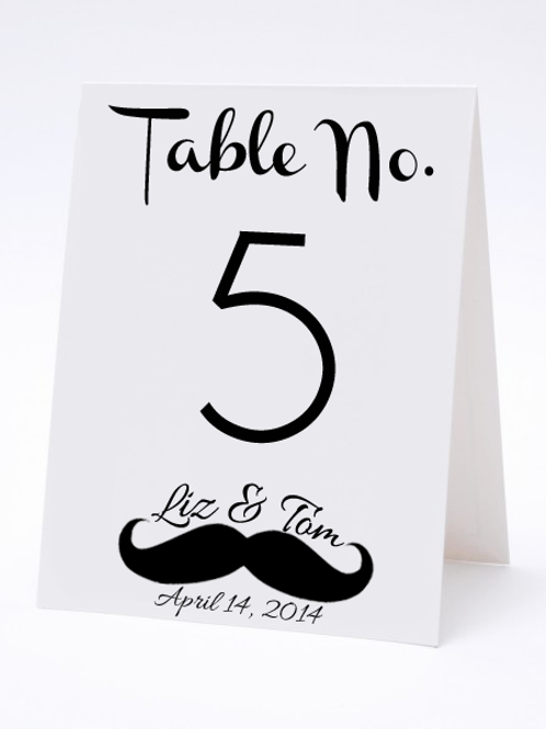 Wedding Table Number- The Stash