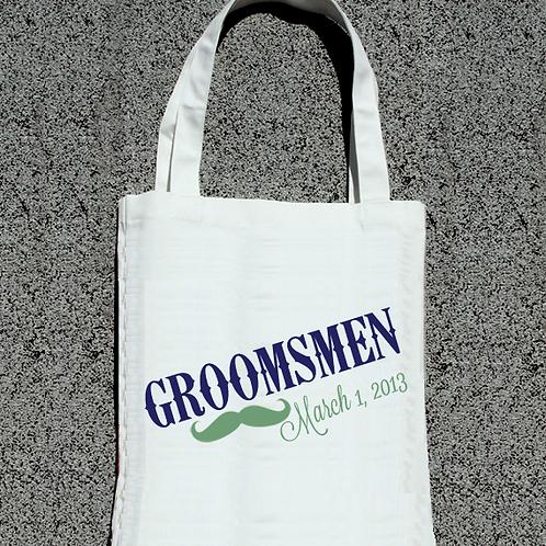 Groomsmen Mustach- Bridal Party Tote Bag