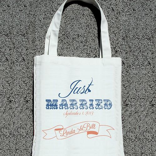 Just Married -Wedding Tote Bag