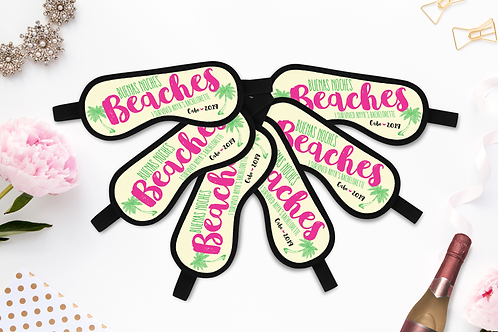 Buenas Noches Beaches - Personalized Sleep Mask - Bachelorette Party Favors