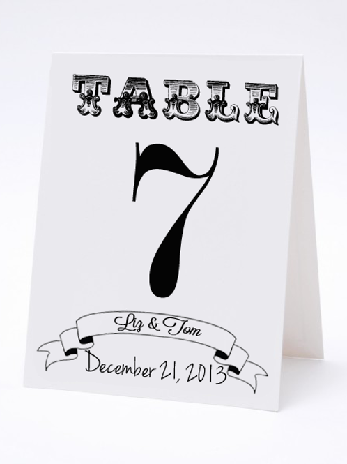 Wedding Table Number- The Billy