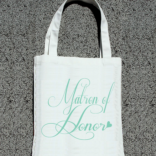 Fancy Matron of Honor Wedding Tote Bag