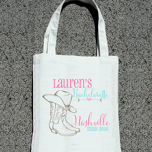 Nashvillle Country Boots Bachelorette Tote Bag