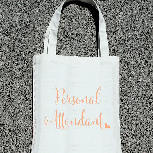 Personal Attendant Bridal Party Wedding Tote Bag
