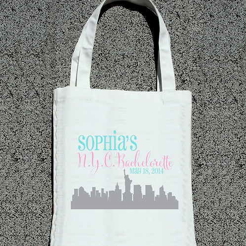 NYC Skyline Bachelorette Party Tote Bag