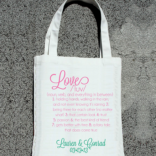 Love Definition -Wedding Tote Bag