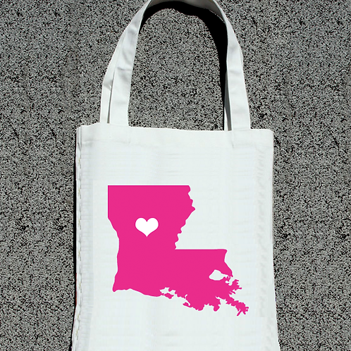 Simple Solid State Destination Map Tote Bag