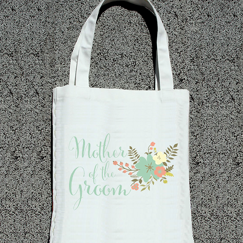 Floral Mother of the Groom- Wedding Tote Bag