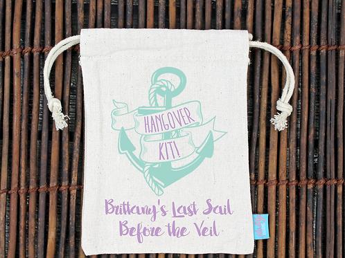 Last Sail Before the Veil Hangover Kit Favor Bag
