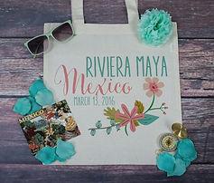 Mexico Destination Wedding Tote Bag