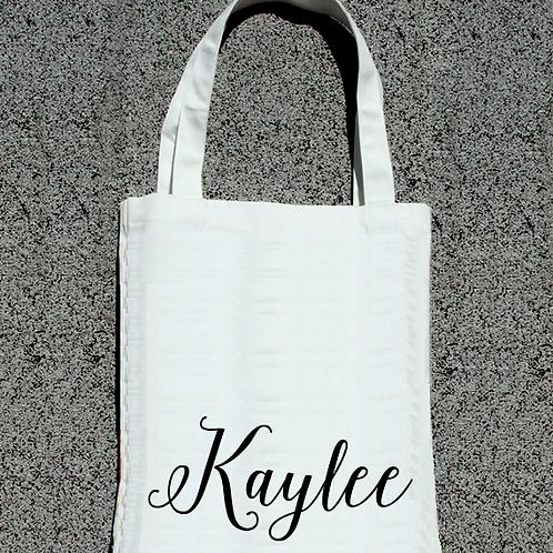 Personalized Fancy Bottom- Bridal Party Tote Bag