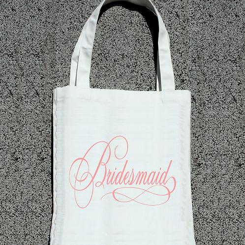 Fancy Bridesmaid- Bridal Party Tote Bag