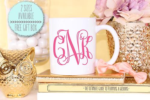 Monogram Bridal Party Mug