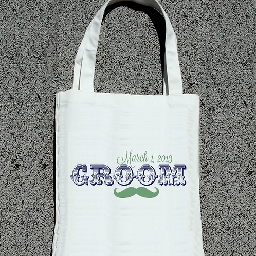Groom Personalized Wedding Party Tote Bag