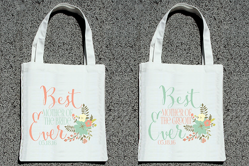 Best Mother of the Bride + Groom Ever Tote Bag Set