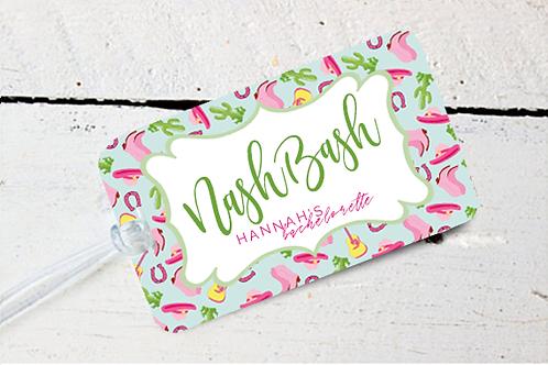 Nash Bash Nashville Bachelorette Party Destination Luggage Tag