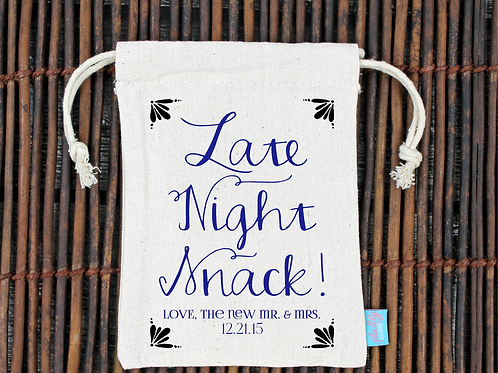 Late Night Snack -Wedding Welcome Favor Bag