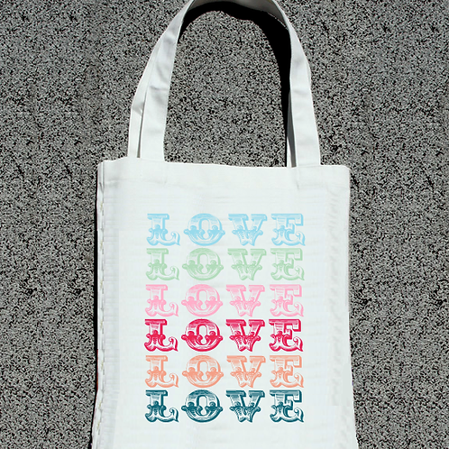 Multi Love Tote Bag