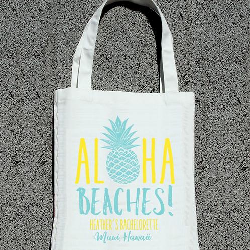 Aloha Beaches Pineapple -Hawaii Bachelorette Tote Bag