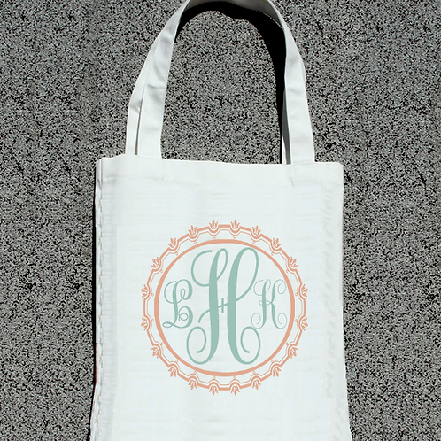 Modern Initial -Wedding Party Tote Bag