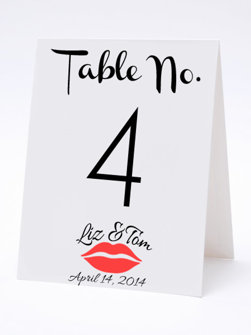 Wedding Table Number- The Hilary