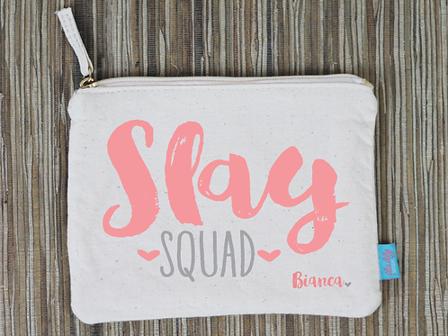 Slay Squad Personalized Bachelorette Party Makeup Cosmetic