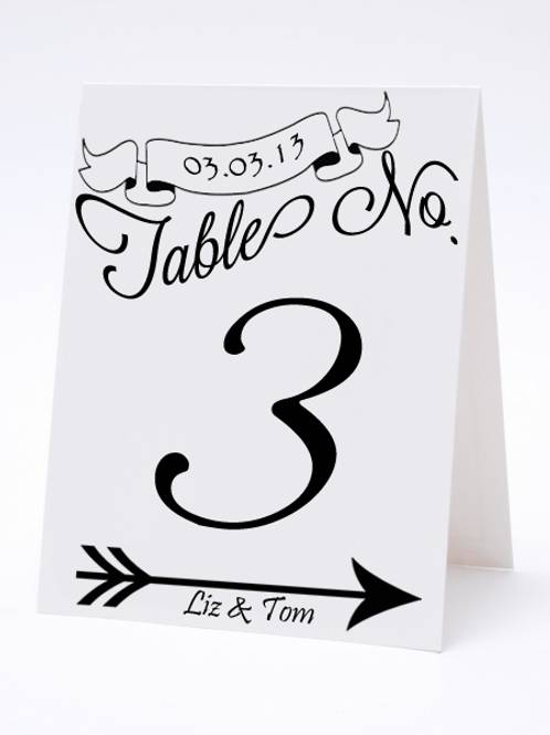 Wedding Table Number- The Julia
