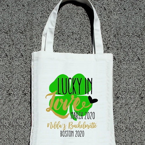 St Patricks Day Lucky in Love St Pattys Day Tote Bag